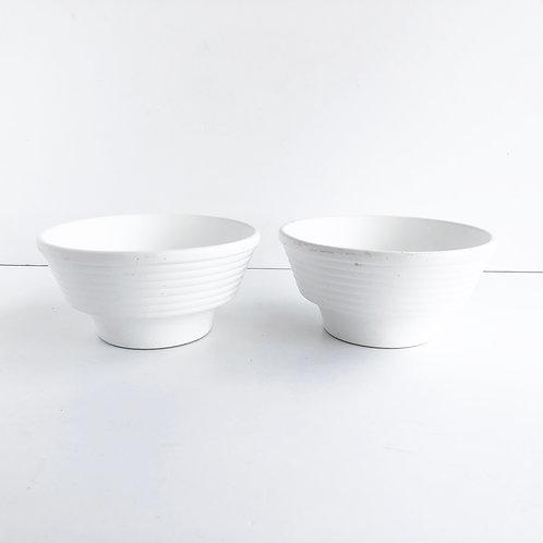 Matte White Planters - Set of 2