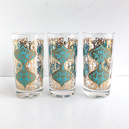 Colored Mid-Century Tumblers #38 - Set of 3