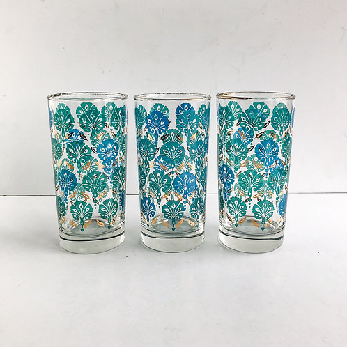 Colored Mid-Century Tumblers #52 - Set of 3