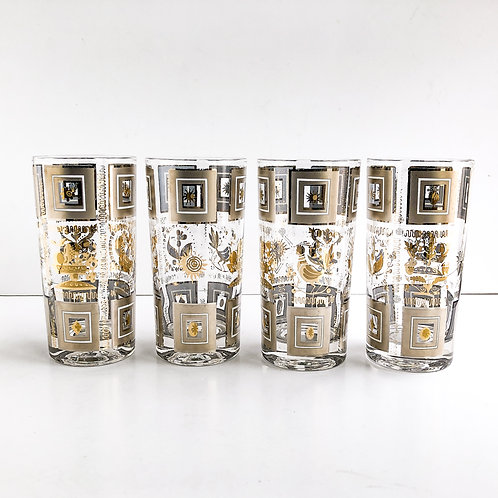 Gold Mid-Century Tumblers #61 - Set of 4