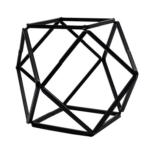 Black Metal Polyhedron - Large