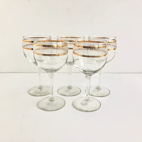 Gold Rimmed Coupes #10 - Set of 5