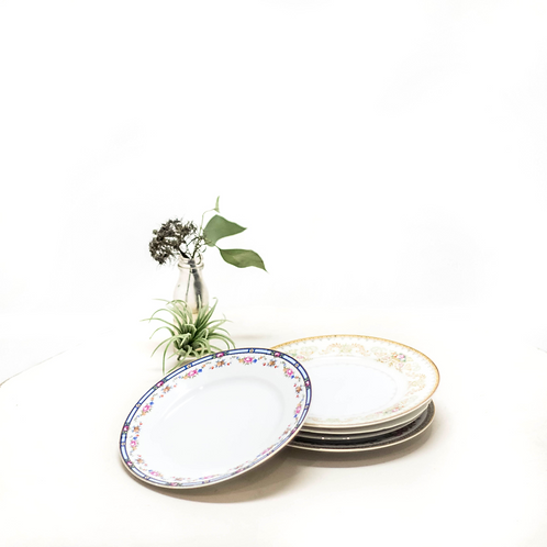 Mix & Match Floral Salad Plates - Set of 5