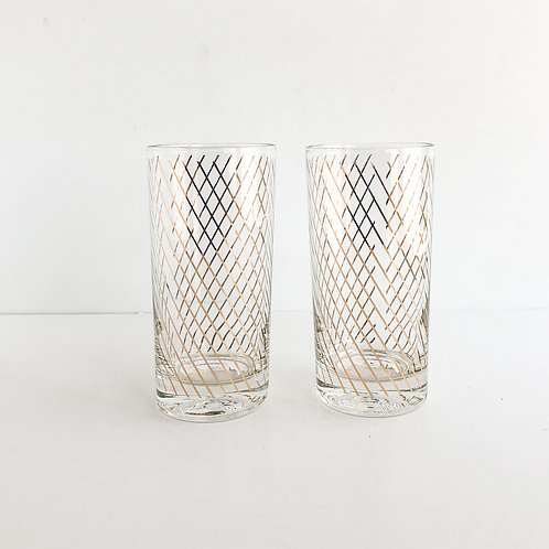Gold Mid-Century Tumblers #28 - Set of 2