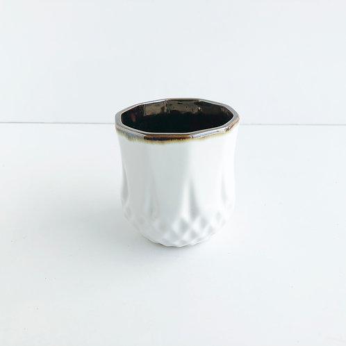 Mini White Glazed Pot