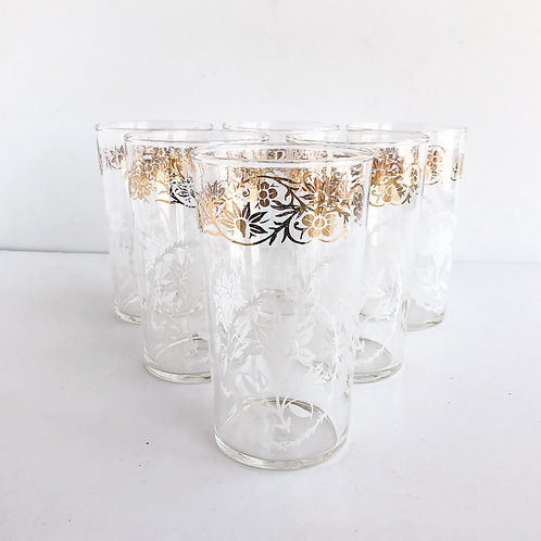 Gold Mid-Century Tumblers #41 - Set of 6
