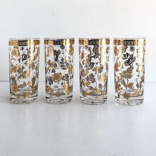Gold Mid-Century Tumblers #48 - Set of 4