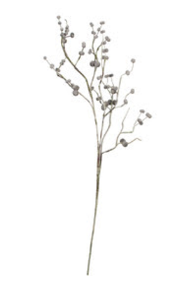 Faux White Berry Branches - Set of 2