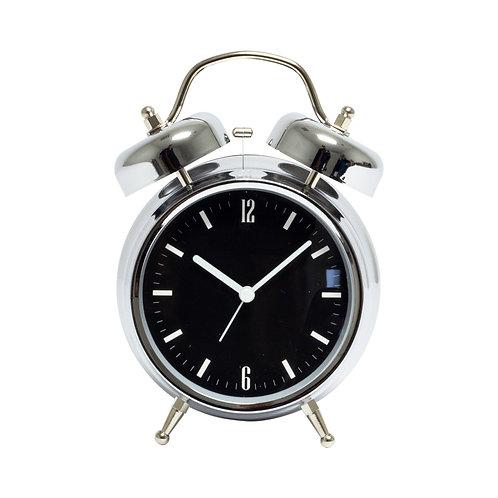 Black & Silver Alarm Clock