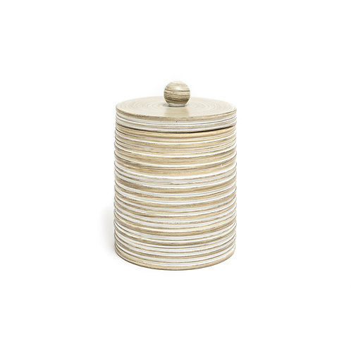 Textured Stripe Bath Canister