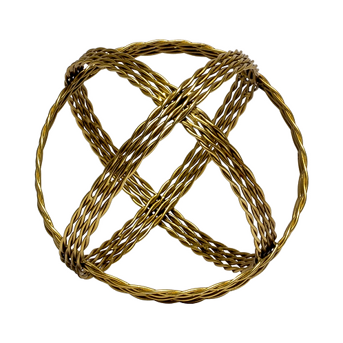 Twisted Gold Metal Sphere