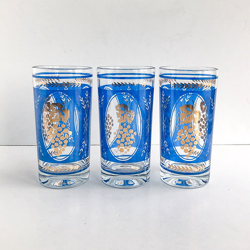 Colored Mid-Century Tumblers #47 - Set of 3