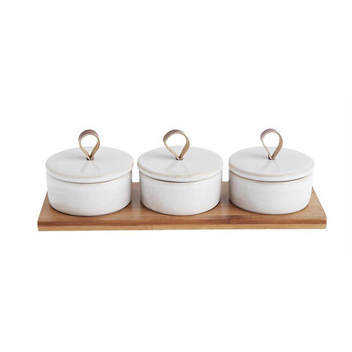Bamboo Pinch Pot Set
