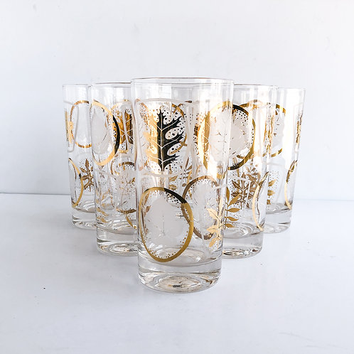Gold Mid-Century Tumblers #43 - Set of 6