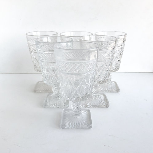 Clear Goblets #8 - Set of 6