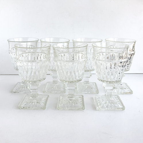 Clear Goblets #7 - Set of 7
