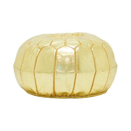 Gold Moroccan Pouf #2