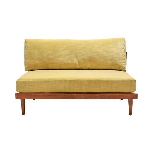 Crosby Settee - Muted Yellow