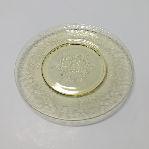 Yellow Depression Glass Plate No. 2 | Set of 3