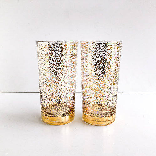 Gold Mid-Century Tumblers #64 - Set of 2