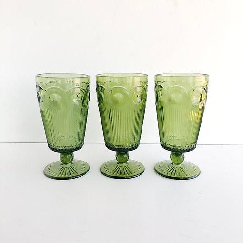 Green Goblets #9 - Set of 3
