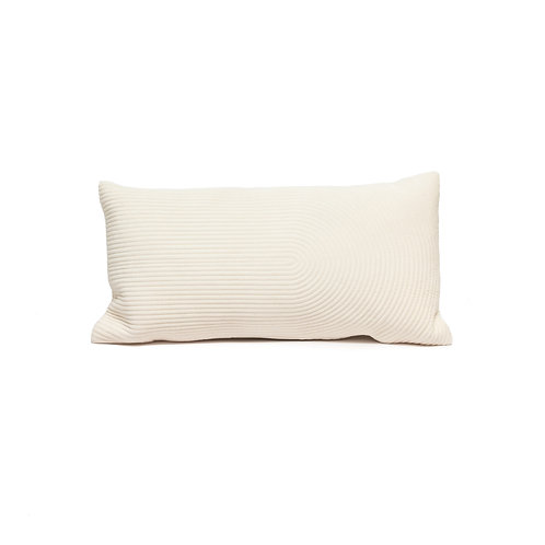 Pale Pink Ribbed Pillow