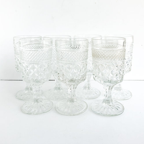 Clear Goblets #11 - Set of 7