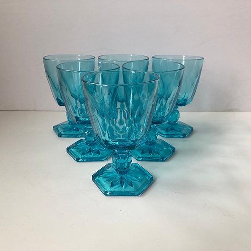 Blue Goblets #5 - Set of 6