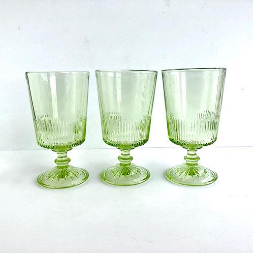 Green Goblets #7 - Set of 3