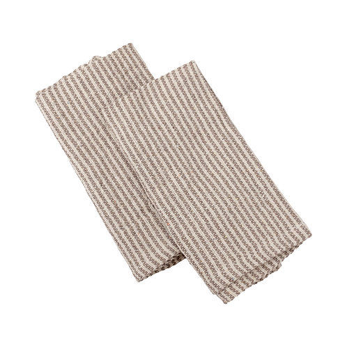Set of 3 Gray Striped Kitchen Towels