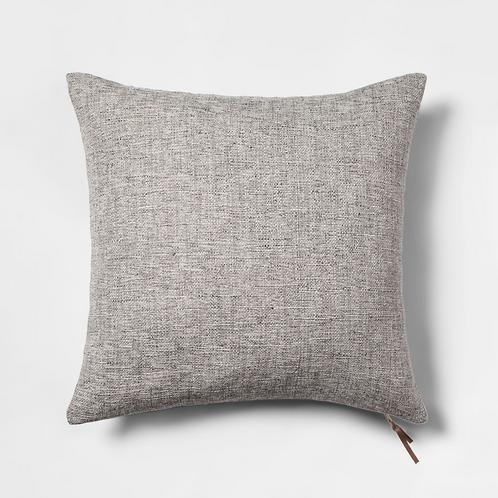 Gray Zipper Pillow