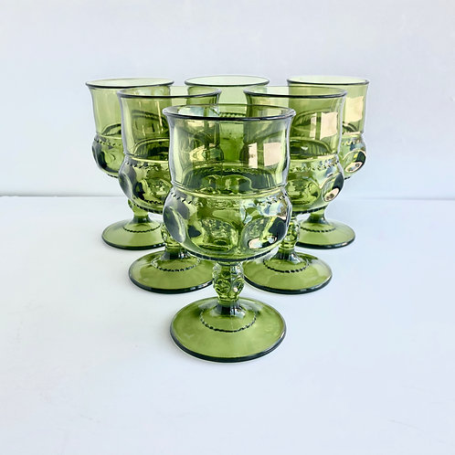 Green Goblets #3 - Set of 6