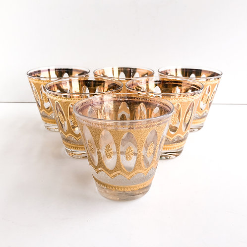 Gold Mid-Century Lowballs #35 - Set of 6