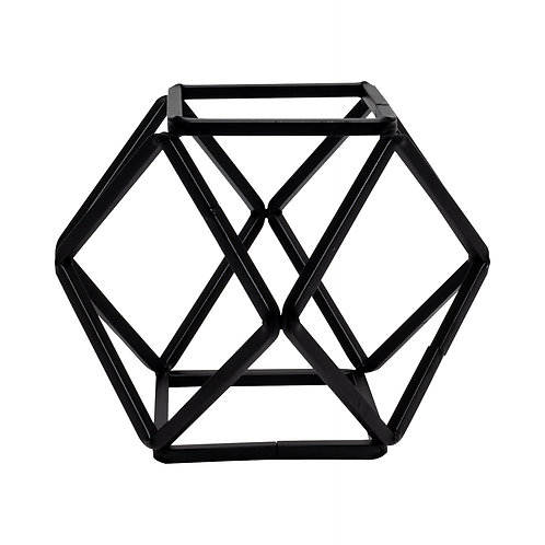 Black Metal Polyhedron - Small