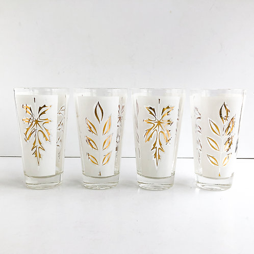 Gold Mid-Century Tumblers #65 - Set of 4