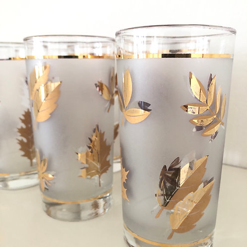 Gold Mid-Century Tumblers #16 - Set of 4