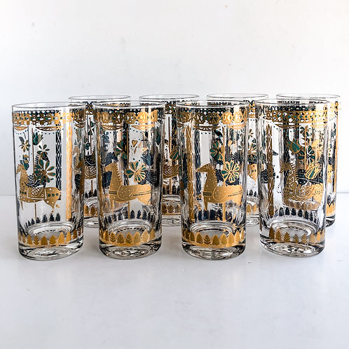 Colored Mid-Century Tumblers #32 - Set of 8