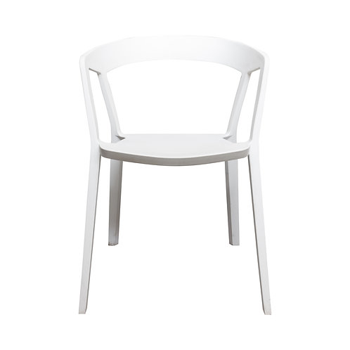 White Tribeca Dining Chairs - Set of 4