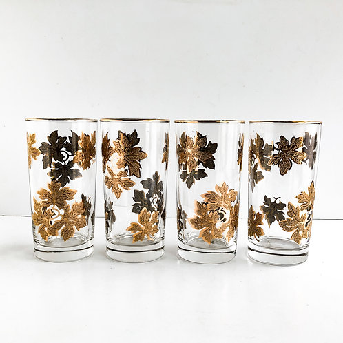 Gold Mid-Century Tumblers #55 - Set of 4