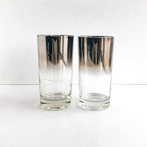 Colored Mid-Century Tumblers #45 - Set of 2