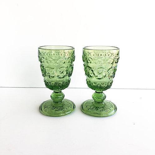 Green Goblets #10 - Set of 2