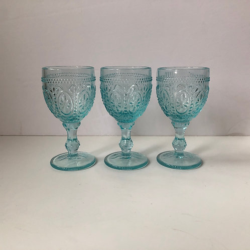 Blue Goblets #9 - Set of 3
