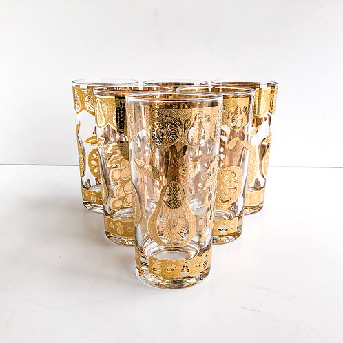 Gold Mid-Century Tumblers #62 - Set of 6