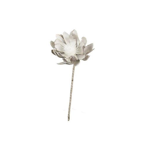 Faux White Proteas - Set of 2