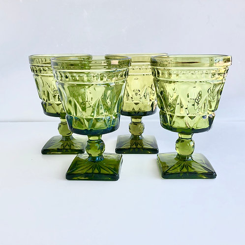 Green Goblets #2 - Set of 4