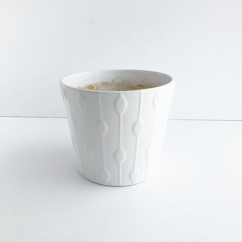 XL White Glazed Pots #1 - Set of 2