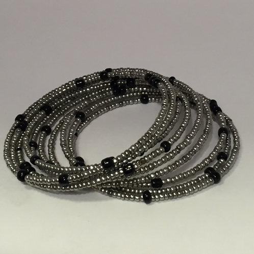 Silver & Black Bracelet