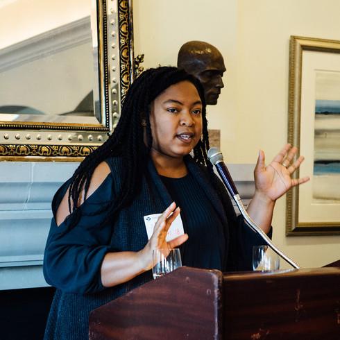 Natalie James '18, current Smith College Black Student Alliance President.