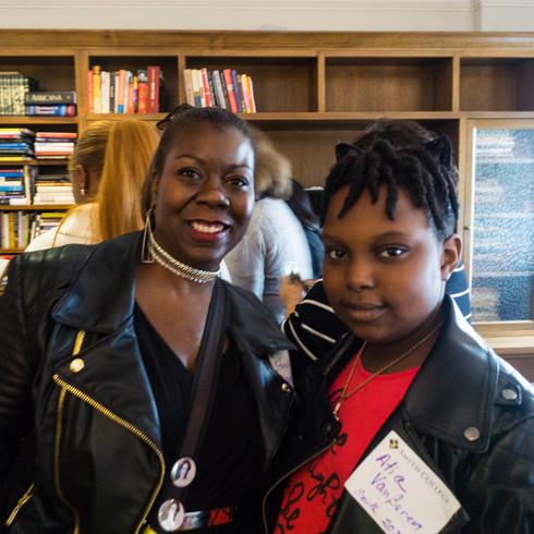 Atia Van Buren, future 2028 Smithie and her mother Stevie Van Buren  Ada Comstock Scholar '96