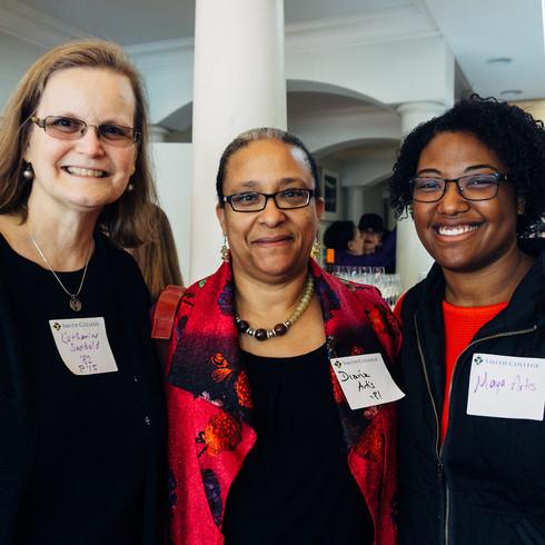 (Left to Right) Katharine Swibold '82, Diana Artis '81 and her daughter Maya Artis.